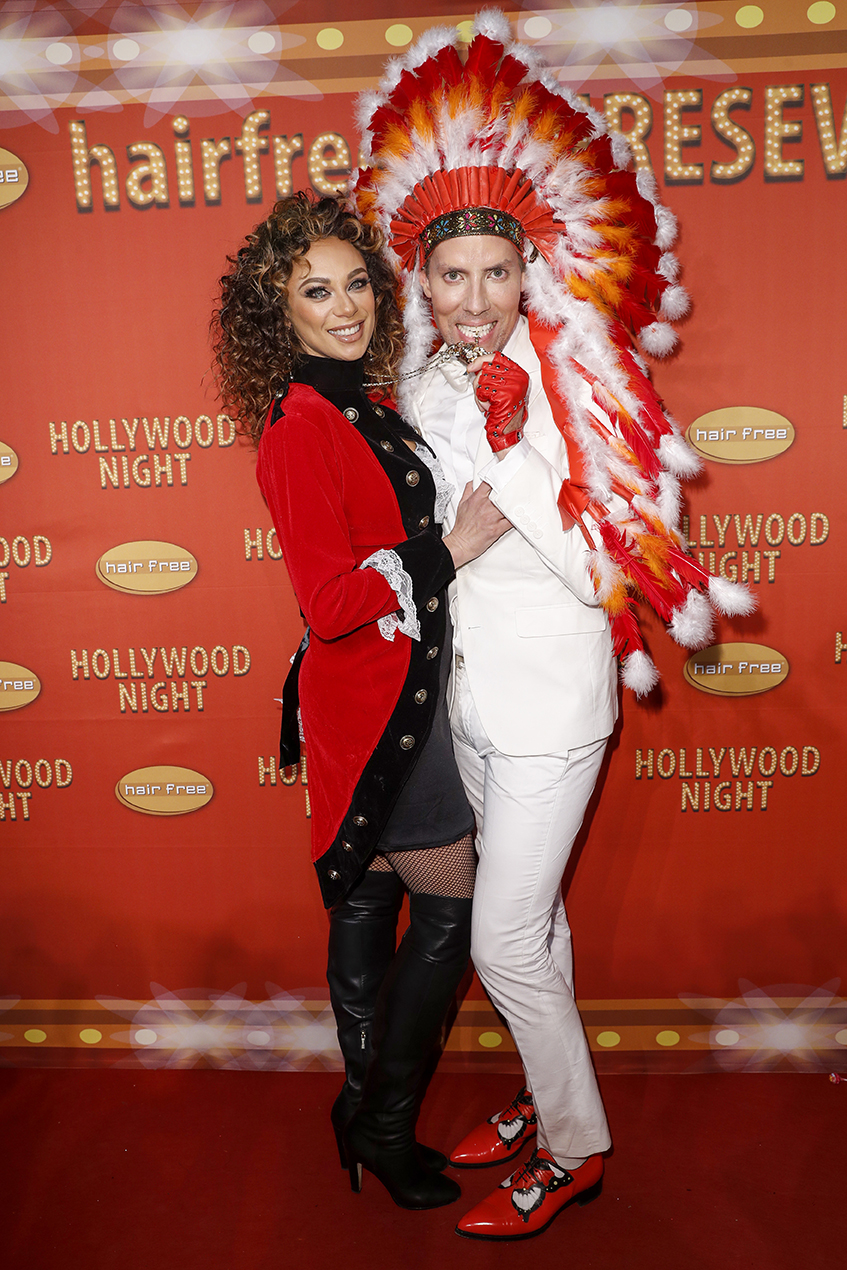 DARMSTADT, GERMANY - NOVEMBER 26: Lilly Becker and Hairfree founder Jens Hilbert attend the Hollywood Superhero Fairytale Night hosted by Jens Hilbert on November 26, 2016 in Darmstadt, Germany. (Photo by Franziska Krug/Getty Images for hairfree) http://www.image.net